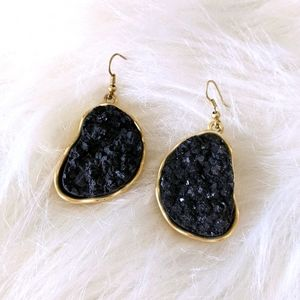 Gold & Black earings
